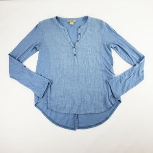 Womens Lucky Brand Light Weight Blue Shirt Size XS